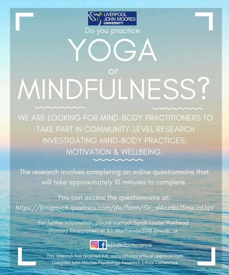 recruiting for mindfulness and yoga research